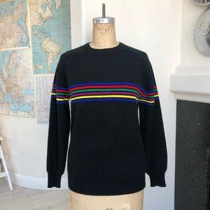 Vintage High Sierra rainbow striped sweater S